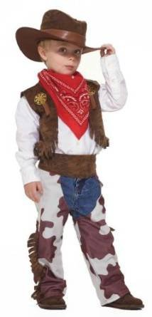 Toddler Western Cowboy Costume Size 2-4T