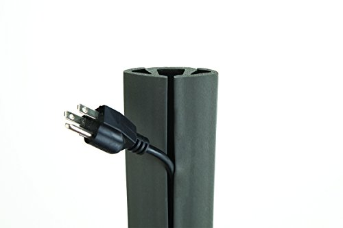 UT Wire UTW-CP501-GY 5-Feet Cord Protector with 3-Channels, Dark Gray
