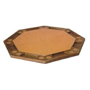 52 folding poker table top wood finish pecan for 52 folding table