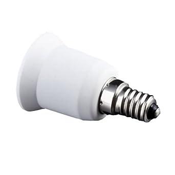 YKS E14 to E27 Extend Base LED CFL Light Bulb Lamp Adapter Converter Screw Socket