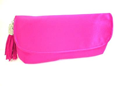 menbur womens illvin fuschia pink satin clutch bag
