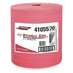 Wypall X80 Jumbo Roll Red Wipes, 12.5\