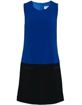 Helene Berman Dress Blue Short Contrast 16