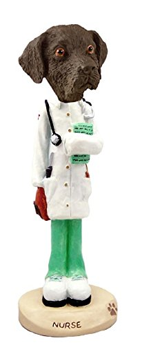 Labrador Retriever Chocolate Nurse Doogie Collectable Figurine (Chocolate Statue compare prices)