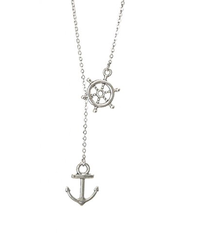 FrEEna-Design-Nautical-Lariat-Necklace-Wheel-and-Anchor