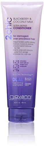 Giovanni 2chic Ultra Repair Conditioner, Blackberry and Coconut Milk, 8.5 Fluid Ounce (Giovanni Color Conditioner compare prices)