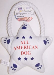 CANVAS N'ROPE STAR DOG TOY