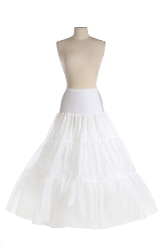 New Mega Very Full Bridal Spandex Control Top Petticoat Crinoline Wedding Gown Slip by BAGS FOR LESSTM