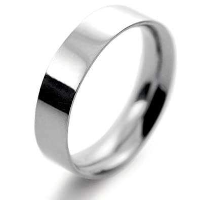 Platinum Wedding Ring Flat Court Medium - 5mm