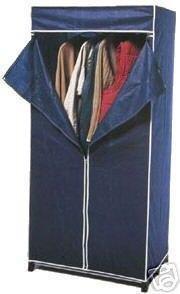 penderie armoire garde robe tissu 160 cm. Black Bedroom Furniture Sets. Home Design Ideas
