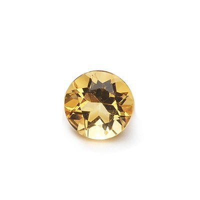 0.43 Cts of AAA 5 mm Round Loose Citrine ( 1