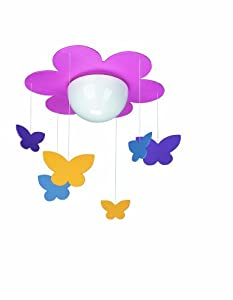 Massive 40096/34/10 Kico Meria Butterfly Ceiling Light In Pink from Philips Consumer Lighting