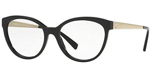 Versace - VE 3237, Cat eye, acetato, donna, BLACK(GB1), 54/17/140