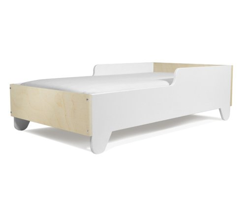 Hiya Toddler Bed - Polar White & Birch