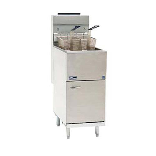 Natural Gas Pitco 35C+S 35-40 lb. Stainless Steel Floor Fryer - 3 Tubes, 90,000 BTU (Pitco Deep Fryer compare prices)