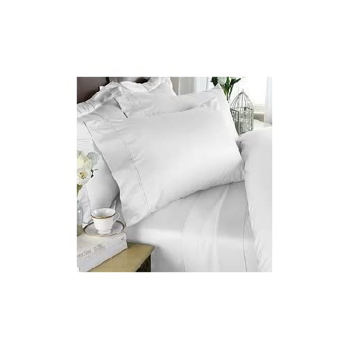 Super Deep Pocket 1 Fitted Sheet Only 100/% Egyptian Cotton 1000 TC Ivory Stripe