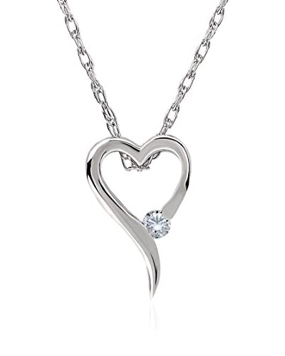 Divas Diamond Set catenina e pendente Diamond Heart White Gold Oro Bianco