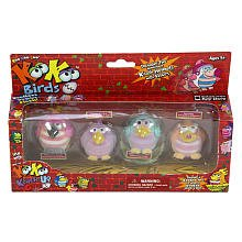 KooKoo Bird Flocked Koollectibles Series 2 Dolls 4-Pack - Fuzzywunkle, Nubbyfussit, Ongobong, and Nangaroon - 1
