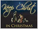 Keep Christ in Christmas Lawn Display - Yard Decoration