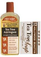 Hollywood Tea Tree Astringent Bonus 8 oz. (Pack of 2)