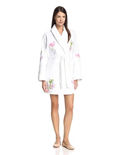 Aegean Apparel Women's Flamingo Appliqué Robe