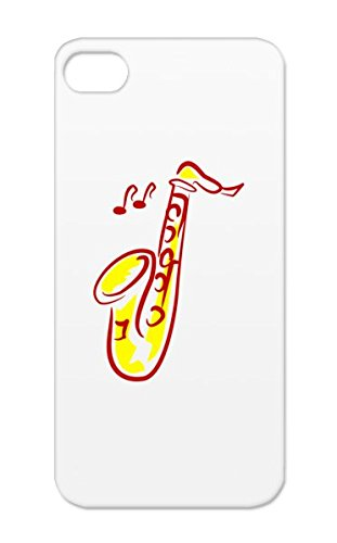 Drop Resistant Stage Recording Sound Engineering Studio Jazz Saxophone Microphone Music Reop Music Red Case Cover For Iphone 5