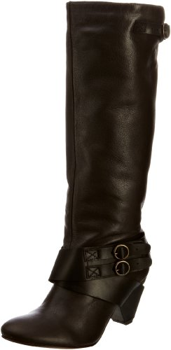 Fly London Women's Gina Piombo/Black Knee High Boots P142386001 7 UK