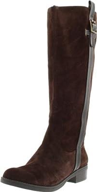 Jessica Simpson Women's Vanitiya Knee-High Boot,Brown Split Suede,5 M US