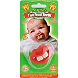 Billy Bob Two Front Teeth Baby Pacifier, Pink Lips