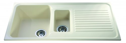 CDA AS2IV Kitchen Sink Composite in Ivory 1 1/2 Bowl CDA AS2