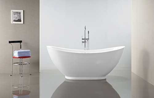 Vanity Art Bath Free Standing Acrylic Bathtub VA6516 (Freestanding Bathtub Fixture compare prices)