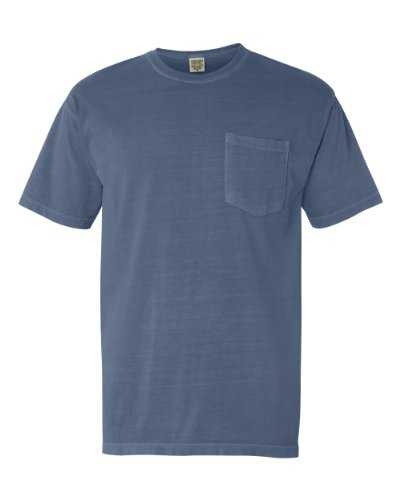 Comfort Colors 6030CC Garment Dyed Pocket T Shirt. - Denim - XL (Garment Dyed T Shirt compare prices)