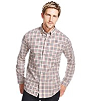 Blue Harbour Brushed Pure Cotton Cross Checked Shirt
