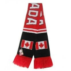 Double Jacquard Knitted Soccer Scarf - Canada, (Canada Soccer compare prices)