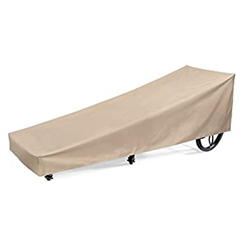 SunPatio Outdoor Patio Chaise Lounge Cover, Extremely Lightweight, Water Resistant, Eco-Friendly, Helpful Air Vents, 84