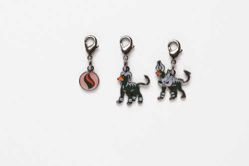 Pokemon Center National Pokedex Metal Charm Mega Houndoom - 1