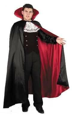 Adult Satin Vampire Costume Cape