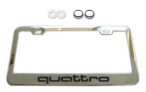 Audi Quattro Chrome License Plate Frame W Screw Covers - Audi license plate frame
