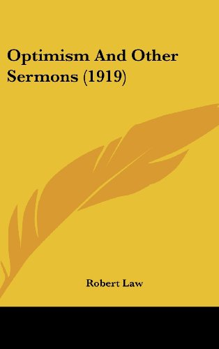 Optimism and Other Sermons (1919)