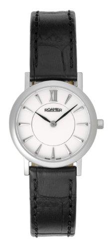 Roamer - 934857 41 25 09 - Montre Femme - Quartz - Analogique - Bracelet Cuir Noir