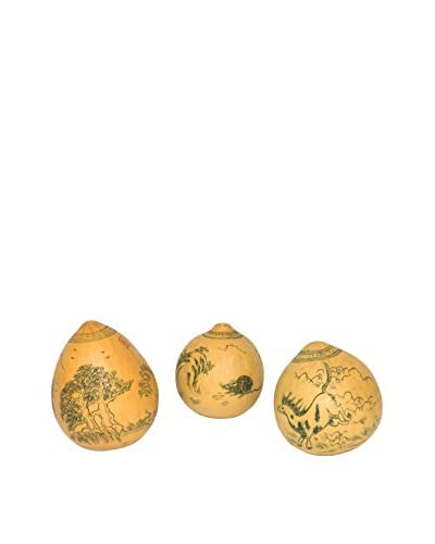 Vintage Assorted Hand-Painted Eggs, Natural