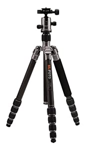 Mefoto C1350Q1T Roadtrip Carbon Fiber Travel Tripod Kits (Titanium)