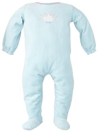 Petit Bateau - Grenouillère - bébé fille - Bleu (Céleste) - FR: 1 mois (Taille Fabricant : 56 cm)