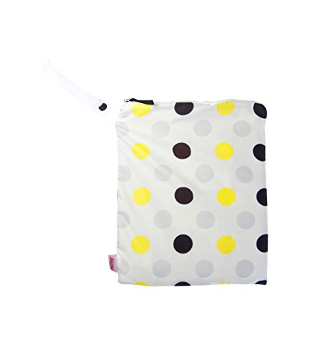 NUBY Washable Wet Bag, Yellow/Black Dots