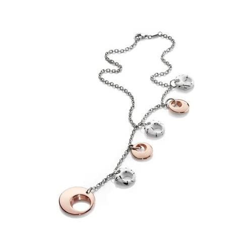 18K Rose Gold Plated & White Ceramic Charmed Necklace
