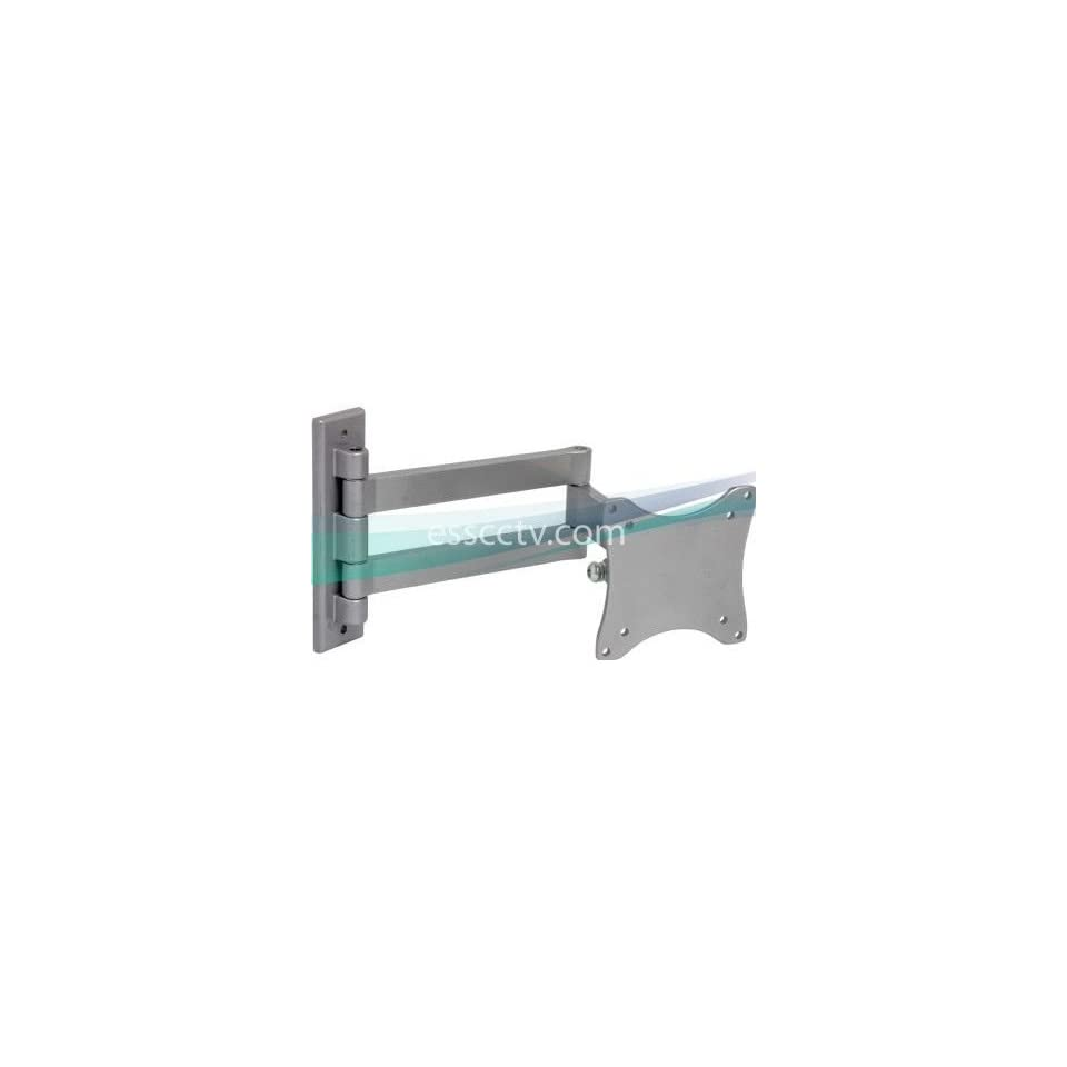 LCD LED Monitor Wall Mount, Tilt/Swivel, Double Arm, 33 lbs Max Load