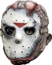 Rubie's Costume Co Friday The 13th Jason Voorhees Deluxe Overhead Mask, Gray, One Size