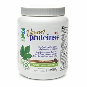 Genuine Health Vegan Proteins+, Double Chocolate 10 Oz (280 G)