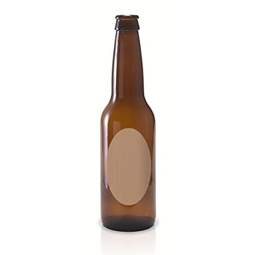 50 Kraft Oval Beer Bottle Labels, 4 x 2 inches (Beer Label Paper compare prices)