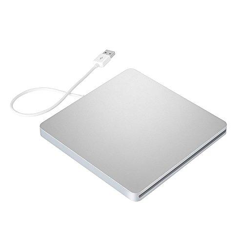Qtuo USB2.0対応 ポータブルドライブ CD-RW/DVD-RW外付けレコーダー/プレイヤー Windows/Mac OS両対応 USBケーブル付き 超薄型